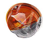 Рассеиватель фонаря переднего бесцветно-оранжевый (ОСВАР)