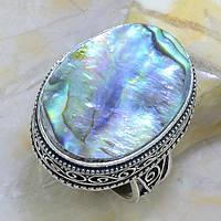 Кольцо с натуральным перламутром (галиотис) в серебре., фото 1