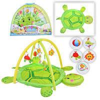 Коврик детский игровой 898-112 B черепаха, подвески, погремушки