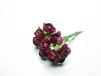Цветок Роза бумажная бордо