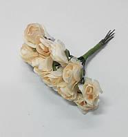 Цветок Роза бумажная телесная