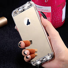 Силиконовый чехол для Apple iPhone 7 Gold с камнями, фото 2