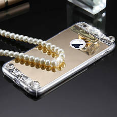 Силиконовый чехол для Apple iPhone 7 Gold с камнями, фото 3