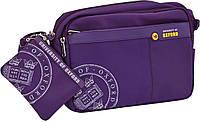 Сумка подросковая Х109 Oxford с отдельным кошельком-карманом фиолетовая (551962)