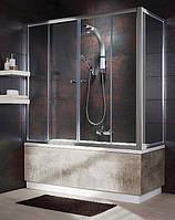 204075-01 Radaway Vesta S Шторка для ванної нерухома  75, хром/прозоре