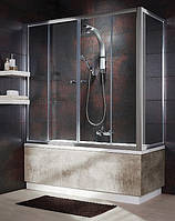 204080-06 Radaway Vesta S Шторка для ванної нерухома  80, хром/фабрік