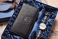 Необычный подарок мужу,для любимого, подарочный набор, в подарочной коробке мужские наручные часы,портмоне