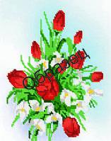 Схема для вышивки бисером «Красные тюльпаны»