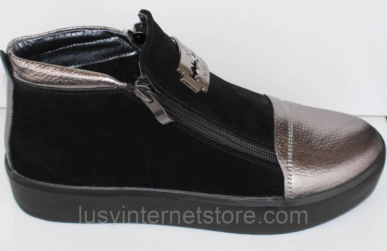 Весенние женские ботинки замшевые, женская обувь замшевые от производителя  модель НП1516-6 - Lusy a7c7f6cb3f6