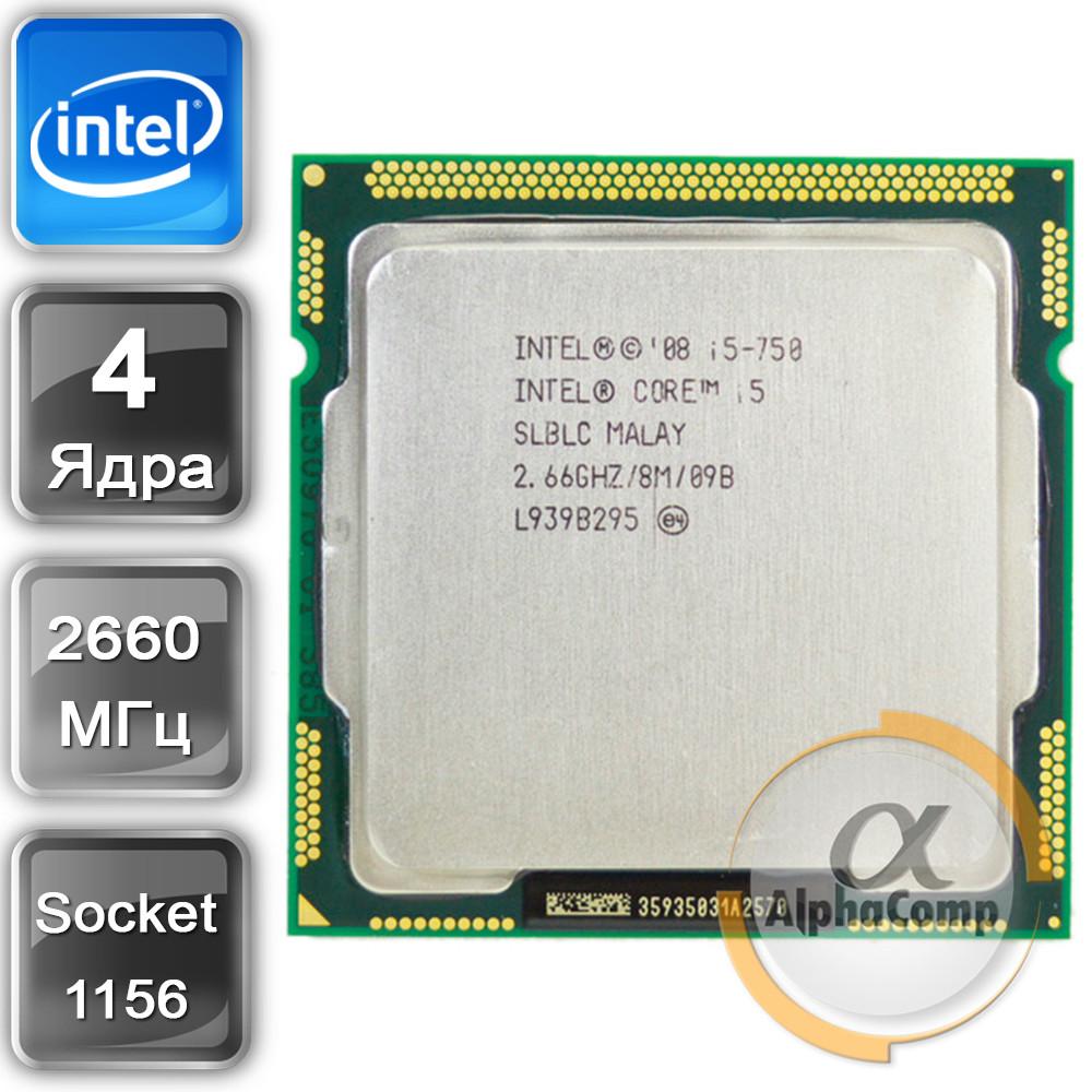 Процессор Intel Core i5 750 (4×2.66GHz/8Mb/s1156) БУ