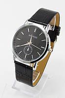 Женские кварцевые наручные часы (черный циферблат, черный ремешок)