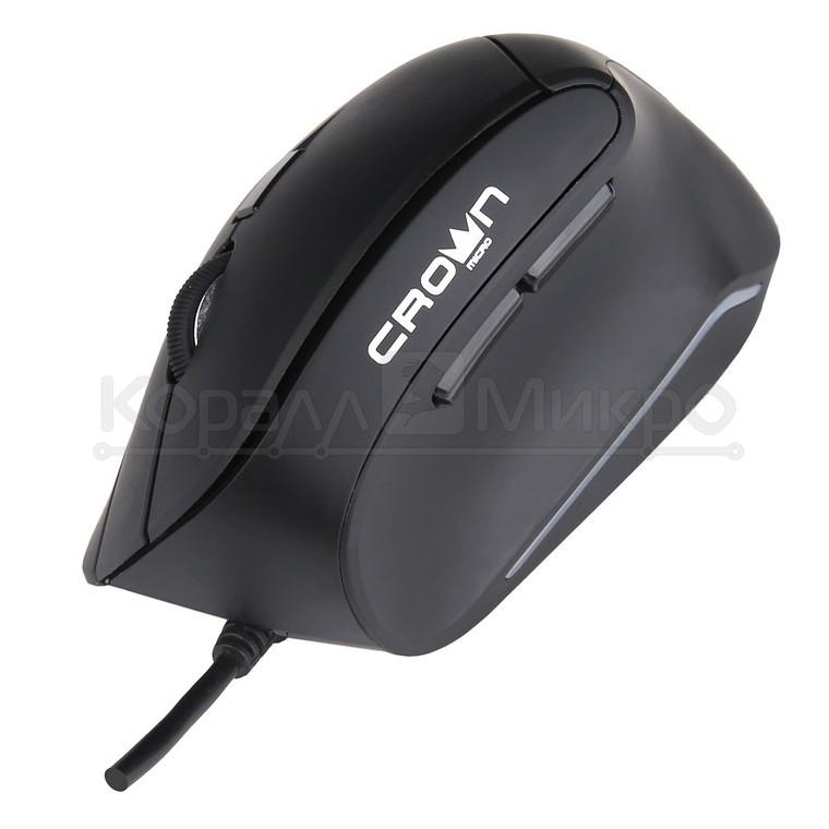 Мышь Crown CMM-960 Health, 1600dpi, USB, чёрный