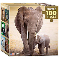 Пазл Слониха и слоненок 100 элементов EuroGraphics (8104-0270)
