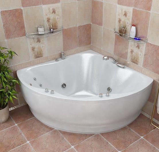 Гидромассажная ванна с врезным смесителем Triton Лилия, 1500х1500х680 мм