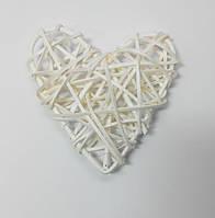 Сердечко из лозы 13х13 см