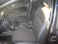 Чехлы на Форд Фокус (Ford Focus) экокожа + ткань