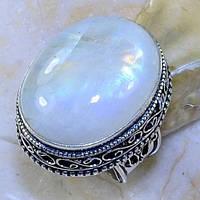 Лунный камень кольцо с натуральным лунным камнем в серебре 17.5 размер, фото 1