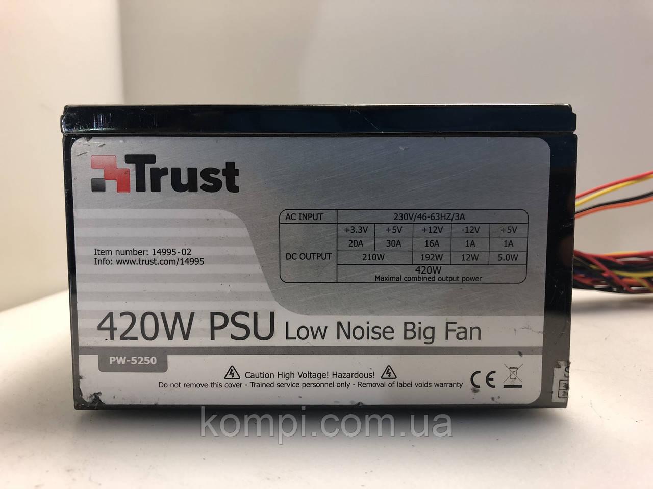Блок питания 420W Trust PW-5250 PSU  б/у