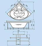 Гидромассажная ванна с врезным смесителем Triton Сабина, 1600х1600х680 мм, фото 3