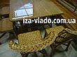 Кутовий набір плетених меблів з лози «Люкс», фото 6