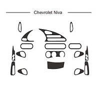 Chevrolet Niva накладки на панель под синий цвет