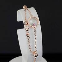 Грациозный браслет с кристаллами Swarovski, покрытый золотом 0696