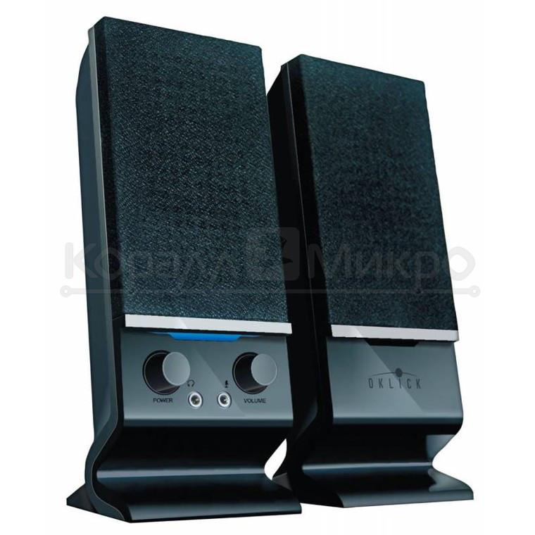 Колонки 2.0 Oklick OK-115U, RMS 6W, USB, чёрный