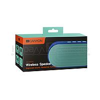 Колонки портативные 1.0 Canyon CNS-CBTSP3 RMS 4W, Bluetooth, микрофон, microSD, питание от аккумулятора, синий, фото 4