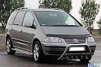 Volkswagen Sharan 2010-2015 Передний кенгурятник без надписи WT003 51мм