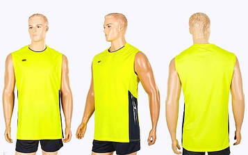 Форма волейбольная мужская (р-р M-4XL-155-185см, желтый)