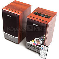 Колонки 2.0 Dialog AD-07 RMS 24W, FM, USB, microSD, ПДУ, МДФ, вишня, фото 2