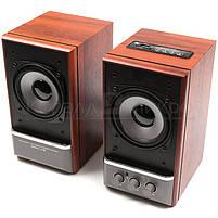 Колонки 2.0 Dialog AD-07 RMS 24W, FM, USB, microSD, ПДУ, МДФ, вишня, фото 3