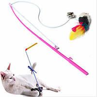 Игрушка для кота, кошки или собаки. Удочка с мышкой!