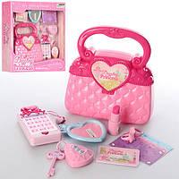 Детский набор аксессуаров 84154, сумочка, телефон-муз, свет, на бат-ке, в кор-ке, 34-31-7,5см