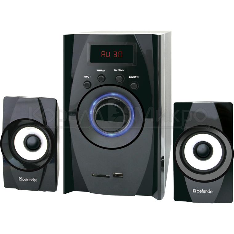 Колонки 2.1 Defender X200 RMS 20W, Bluetooth, FM, USB, SD, ПДУ, МДФ, чёрный