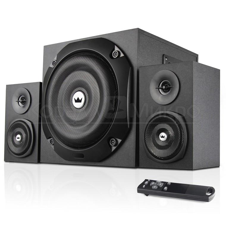 Колонки 2.1 Crown CMBS-401 RMS 40W, Bluetooth, FM, USB, SD,ПДУ, МДФ, чёрный