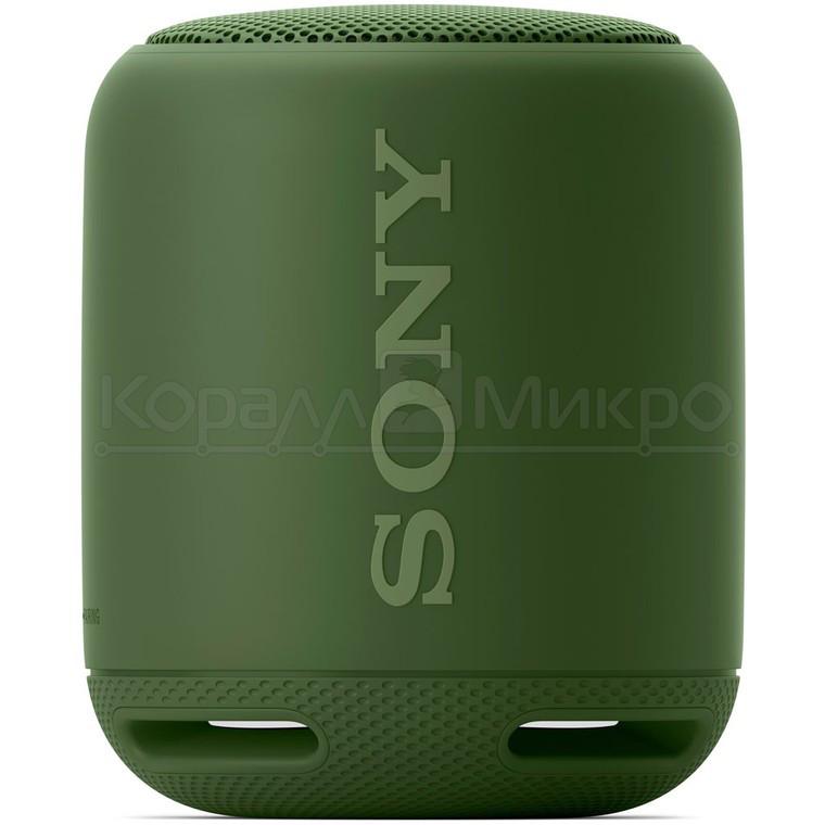 Колонки портативные 1.0 Sony SRS-XB10 RMS 5W, Bluetooth, микрофон, влагонепроницаемые, питание от аккумулятора, зелёный