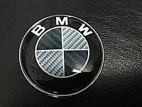BMW F10 F11 F07 карбон эмблема 82.5мм самоклейка+3 шайбы