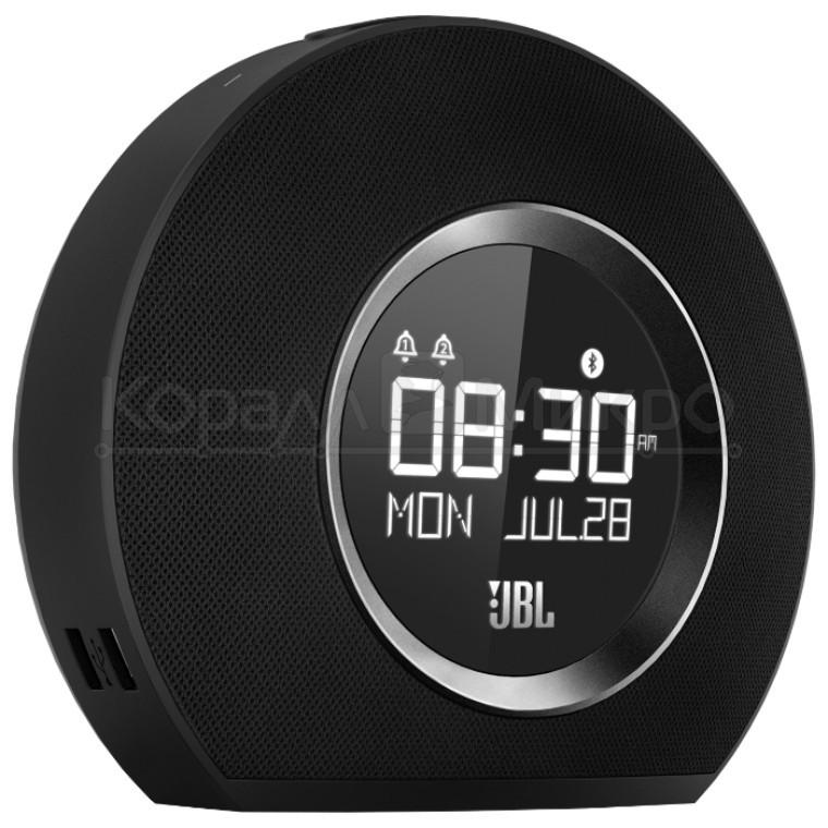 Колонки портативные 2.0 JBL Horizon RMS 10W (2*5W) Bluetooth, микрофон, FM, часы, питание от аккумулятора, чёрный