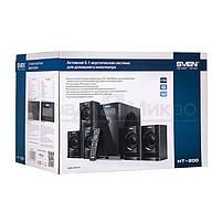Колонки 5.1 Sven HT-200 RMS 80W, FM, USB, SD, дисплей, ПДУ, МДФ, чёрный, фото 2