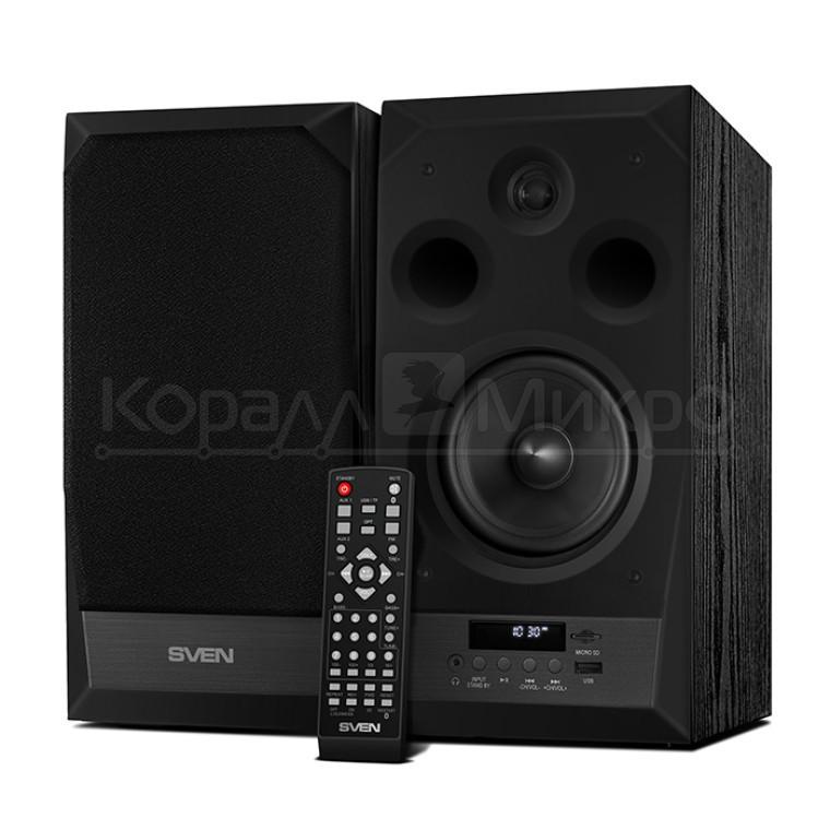 Колонки 2.0 Sven MC-20 RMS 90W Bluetooth, FM, USB, microSD, ПДУ, МДФ, чёрный