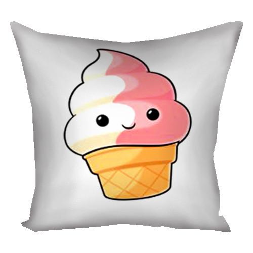 Подушка с принтом Мороженко 30*30см