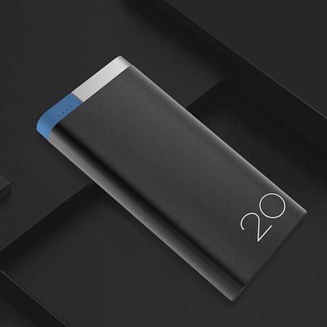 Зовнішній акумулятор ROCK Odin Power Bank 20000 mAh Black. Краща якість. 100% оригінал, фото 2