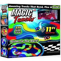 Magic tracks 220 деталей гибкая гоночная трасса Меджик Трек игрушка светящийся констуктор светящаяся дорога