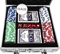 Набор для игры в покер Duke в алюминиевом кейсе 100 фишек (CG-11100)