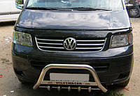 Volkswagen Transporter T5 2010 Кенгурятник WT004 с надписью 60мм