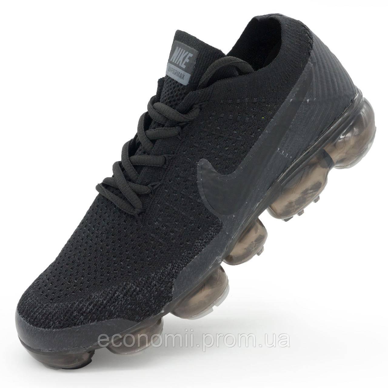 c83e64d6 Мужские кроссовки для бега Nike Air VaporMax полностью черные р.(43) -