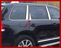 Хром накладки на стойки Volkswagen Touareg 2010+ (Carmos)