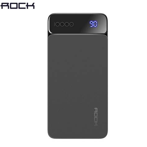 Зовнішній акумулятор ROCK P38 Power Bank 10000 mAh Black. Краща якість. 100% оригінал, фото 2