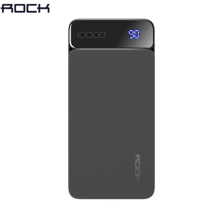 Зовнішній акумулятор ROCK P38 Power Bank 10000 mAh Black. Краща якість. 100% оригінал